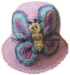 -Crochet Butterfly Hat at Tracey's Boutique in Regina, Saskatchewan ...