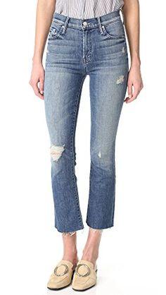 af0e21c4f662d MOTHER Women s The Insider Crop Fray Jeans Mother Jeans
