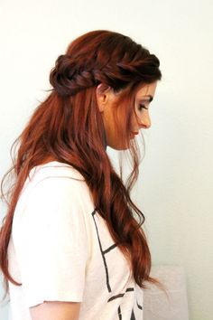 Half up fishtail hairstyle
