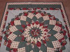 Dahlia Lap Quilt Poinsettia Holiday