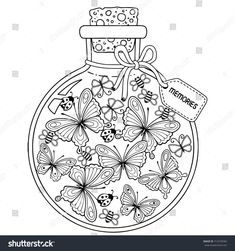 stock-vector-coloring-for-adults-vector-coloring-book-for-adults-a-glass-vessel-with-memories-of-summer-a-713278783.jpg 1.500×1.600 pixel