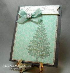 Winter Frost Christmas Greetings by cindy501 - Cards and Paper Crafts at Splitcoaststampers
