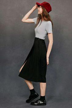 Silence + Noise D-Ring Midi Skirt