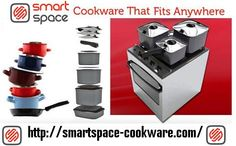 Nestable cookware | SmartSpace Cookware Convenient for small spaces, boats, RV, camping, or even for a regular size home, the whole set can be stacked together for easy storage in the small kitchen or Easy Storage, Rv Camping, Cookware, Small Spaces, Boats, Kitchen, Free, Diy Kitchen Appliances, Kitchen Gadgets