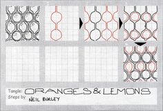 Oranges & Lemons - tangle pattern | Flickr - Photo Sharing!
