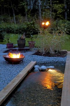 Water Feature & Fire Bowl