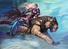 World of Warcraft fantasy art night elf sabertooth swords World Of Warcraft, Art Warcraft, Warcraft Legion, Fantasy Warrior, Elf Warrior, Fantasy Creatures, Mythical Creatures, Death Knight, Elfa