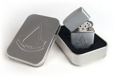 ASSASSIN'S CREED III 3 CONNOR 2 4 EZIO ACCENDINO LIGHTER ZIPPO RICARICABILE LOGO
