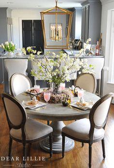 A Whimsical Easter Brunch Table Setting - Dear Lillie Studio