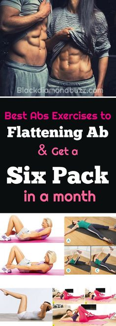 Easy best abs exercises to lose belly fat and get a six pack ab in 30 days.It will also help you to firm and tone your stomach fast in a month .