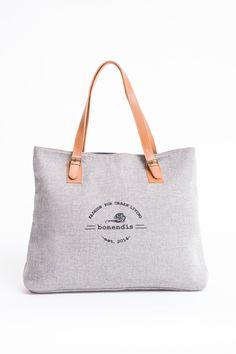 BONENDIS - SIENA SHOPPER BAG LIGHT GREY - Ozon Boutique