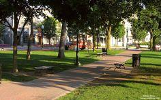 Kellogg Park, downtown Plymouth, Michigan