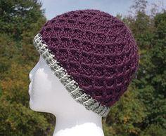 Crochet Lattice Hat free pattern.