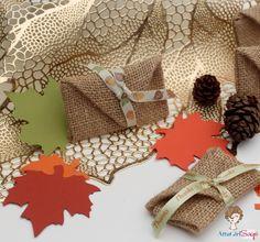 Burlap Envelope Place Cards No Sew-Thanksgiving Craft
