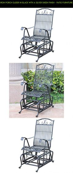 IRON PORCH GLIDER in BLACK with a SILVER SHEEN FINISH - PATIO FURNITURE #products #parts #furniture #drone #plans #fpv #patio #camera #tech #kit #gadgets #technology #racing #shopping #iron