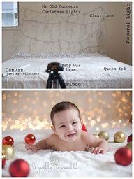 DIY Christmas lights photo shoot