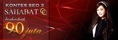 Daftarkan diri anda sekarang juga di sahabatqq dan menangkan 90 juta rupiah dengan cuma-cuma.  pendaftaran gratis dan di jamin terpercaya 100%  untuk lebih lanjut silakan buka http://sahabatqq.casino