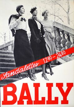 Artist Unknown poster: Bally - Sandalettes 12.80 - 24.80, 1930 ca.