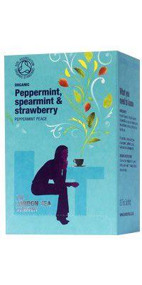 London Tea Company - Organic Peppermint, Spearmint & Strawberry ( en påse