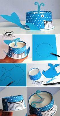 Monstruos y animales con vasos y tarrinas de papel (4)