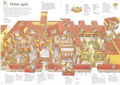 Domus cross-section ~ Rome, Stephen Biesty, Oxford University Press, 2003