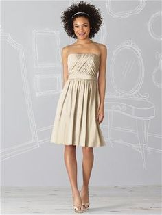 After Six Bridesmaid Dress 6620 - Palomino or Ivory color, maybe $150 ish