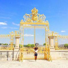 Golden. @cynthianyongesa // Versailles France. #travelnoire #versailles