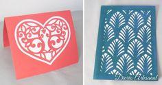 Tarjetas de cartulina calada Card Stock, Step By Step, How To Make, Blue Prints