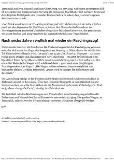 """Gmund - Endlich, nach sechs Jahren: Die Gmunder Seegeister richten am Sonntag, 2. März, einen Faschingszug aus. Und nehmen dabei auch den Bürgermeister aufs Korn.  1000 Stück wurden von der Faschingszeitung gedruckt. Seit November haben wir an der Faschingszeitung gearbeitet"""", berichtet Seegeister-Präsident Ettenreich, der gemeinsam mit Josef Stecher und Jörg Friedrich das närrische Redaktions-Team bildete."""