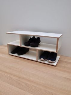 Offering our New 2019 - Shoe rack in birch / white laminate available in 4 different sizes options. These cabinets are made of wood to beautify your world. Shoe Rack Oak, White Shoe Rack, Wooden Shoe Racks, White Shoes, Shoe Storage Modern, Home Made Simple, Shoes Stand, White Laminate, Thing 1