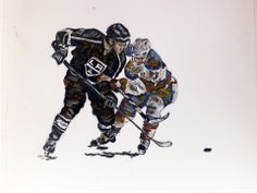 John Robertson Sports Art- Alec Martinez defenseman for the LA Kings. He shoots left handed which I like as I paint left handed. The image is about x on a x drafting film painted with oils. Hamster Treats, Cat Treats, Alec Martinez, La Kings Hockey, Two Sisters Cafe, Sweet Potatoes For Dogs, Natural Dog Food, Best Homemade Dog Food, World Of Sports