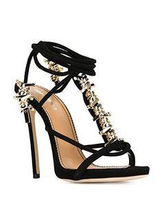 Amazon.com: DSQUARED2 WOMEN'S W15C5061022124 BLACK SUEDE SANDALS: Clothing