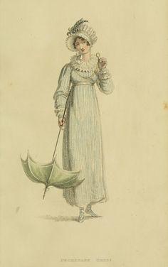 EKDuncan - My Fanciful Muse: Regency Era Fashions - Ackermann's Repository 1815 Jane Austen, Regency Dress, Regency Era, Vintage Outfits, Vintage Fashion, Steampunk Fashion, Gothic Fashion, Illustration Mode, Empire Style