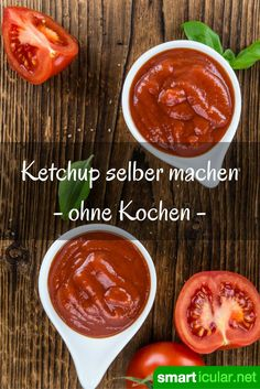 Ketchup ohne Zusatzstoffe und Zucker blitzschnell selbermachen This homemade ketchup without additives and no sugar is done in no time. You will never want to buy finished again! Healthy Cooking, Cooking Tips, Cuisines Diy, Homemade Ketchup, Vegetarian Recipes, Healthy Recipes, Diy Food, Paleo Diet, Keto