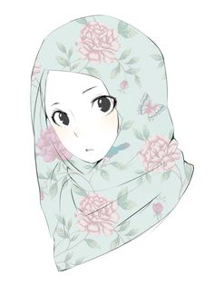 muslimah doodle by nichi09