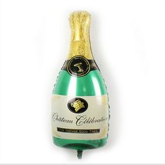 Giant Champagne Bottle Balloon New Years Eve/ by bertiesballoons