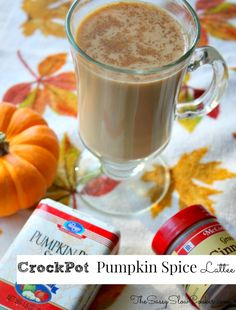 Enjoy pumpkin spice latte at home with this easy crockpot recipe