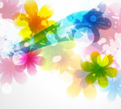 FLOWERS / Free vector Vector flower Vector of Abstract Colorful Flower Background