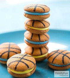 March Madness Cookies: Score major points with your household's basketball fans by setting out the fixings for these sporty treats before a big game.