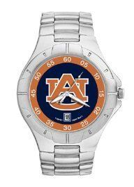 Auburn Tigers Mens' Pro II Stainless Steel Bracelet Watch by Logo Art. $88.95. Powered by a precision Miyota three hand quartz movement with date function.. Water resistant.. Two-year limited warranty.. Packaged in an attractive black tin with flocked insert.. Show your Auburn Tigers loyalty by wearing the sporty Pro II watch by LogoArt®. The Pro II features the Auburn Tigers logo prominently centered on the colorful dial with coordinating dial ring.. Save 26%!