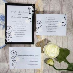 Black and white invitations work for a wide variety of wedding styles