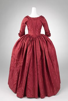 Fripperies and Fobs — Robe à l'anglaise ca. 1770 From the Metropolitan. 18th Century Dress, 18th Century Costume, 18th Century Clothing, 18th Century Fashion, Historical Costume, Historical Clothing, Vintage Outfits, Vintage Fashion, Rococo Fashion