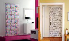 Portas decoradas , portas estampadas