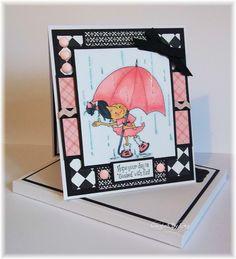 Handmade card using a Sassy Cheryl Image