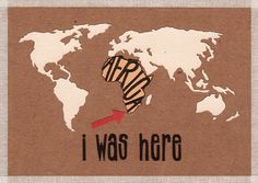'i was here cape town' handmade postcard designs