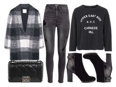 """""""street style"""" by sisaez ❤ liked on Polyvore featuring MANGO, Chanel, Topshop, H&M and Jigsaw"""