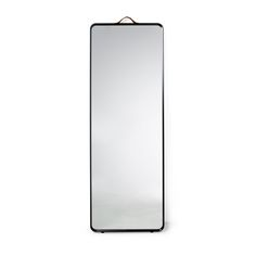 In a clever blend of aluminum, glass, and leather, the Norm Floor Mirror is a fine example of Scandinavian minimalist design.