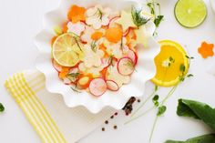 The prettiest summer salad #rawfood #rawvegan #spring #fruit #vegan #salad