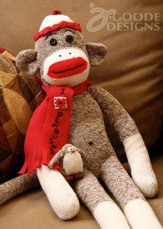 A little sock penguin friend for the monkey...adorable!