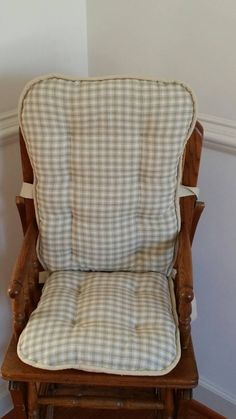Sage Homespun High Chair Cushions, High Chair Pads, High Chair Cover, Highchair  Pads, Wooden Highchair Pads